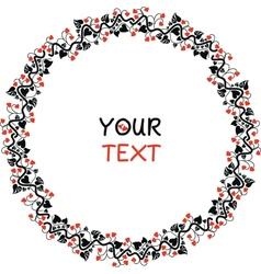 Valentines Day round vignette vector image