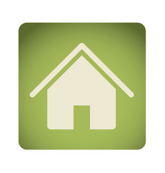 green emblem house icon vector image