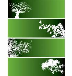 Tree web banners vector