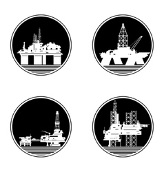 Oil platforms-1 vector image