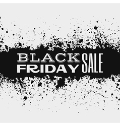 Black friday announcement on ink splatter vector image