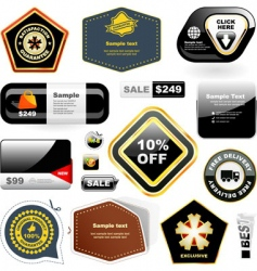 Set of sale signs vector