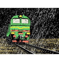 rain train vector image