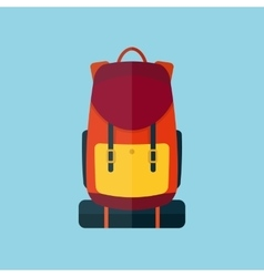 Backpack flat style icon vector