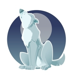 Gray wolf vector image