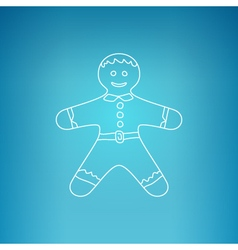 Gingerbread man on a blue background vector