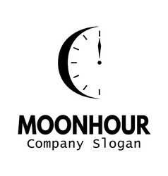 Moon hour design vector
