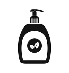 Plastic bottle black simple icon vector
