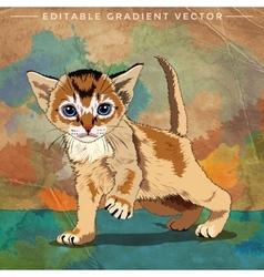Funny kitten vector