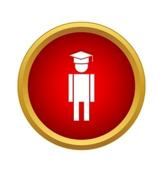 Male university student icon simple style vector