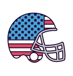 American football with flag usa isolated icon vector