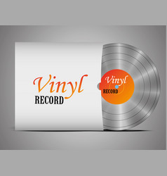 A realistic vinyl record with a cover disco vector
