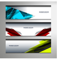 banner geometric design vector image vector image