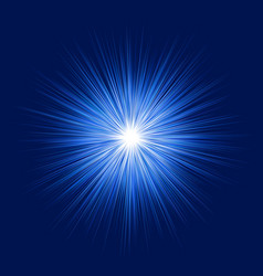 blue abstract explosion graphic design background vector image