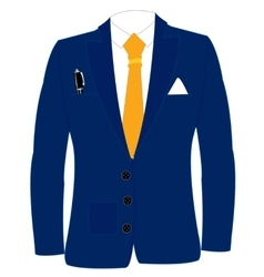 Blue suit and tie vector