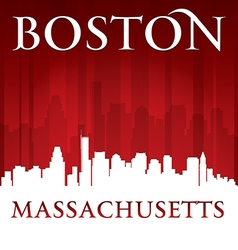 Boston Massachusetts city skyline silhouette vector image vector image