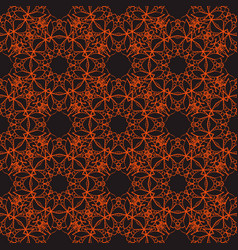 Bright seamless lace pattern on a dark background vector