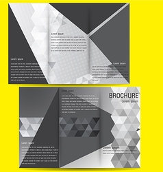 brochure business template design with Black and vector image vector image