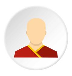 Buddhist monk icon circle vector