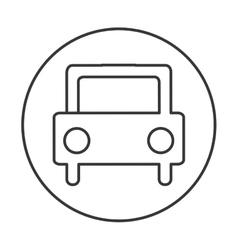 Car auto sedan icon vector