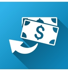 Cashback gradient square icon vector