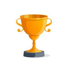 champion award cup isolated icon vector image vector image