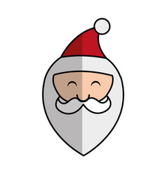 Cute santa claus character head vector