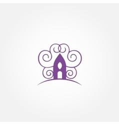 Decorative house unusual logo castle vector