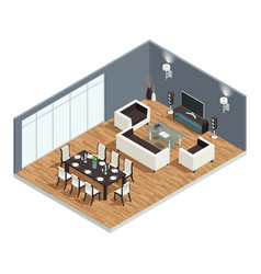 Dining room concept vector