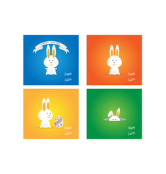 Easter rabbit bunny on colorful background vector