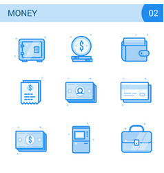 flat line money icon set safe card cash wallet vector image