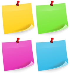 Four Sticky Notes vector image vector image