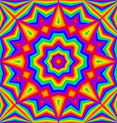Kaleidoscope bright rainbow background vector