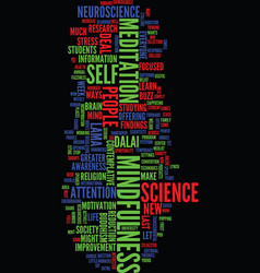 Mindfulness and neuroscience let s make a deal vector