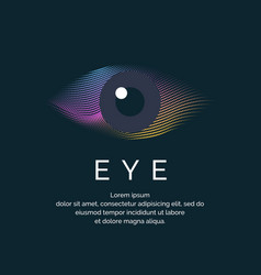 modern colored logo eye vector image vector image