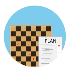 plan strategy icon vector image vector image