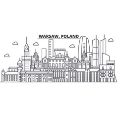poland warsaw architecture line skyline vector image vector image