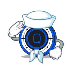 Sailor qash coin character cartoon vector
