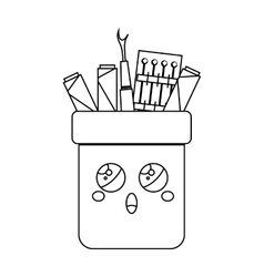 Sewing set comic character isolated icon vector image vector image