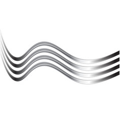 Silver metal waves abstract background vector