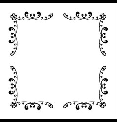 Simple and elegant square frame design template vector