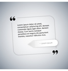 Simple quote template vector