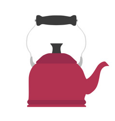 Tea kettle teapot kitchen design vector