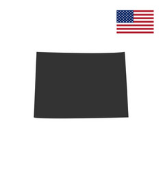 Us state of colorado on the map vector