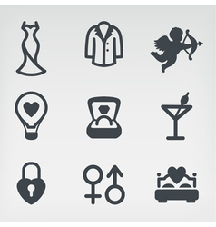 Wedding icon set vector image vector image