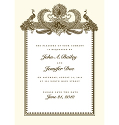 wedding invites vector image vector image