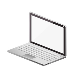 Tech laptop screen with keyboard vector