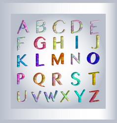 3d alphabet separated alphabet letters vector