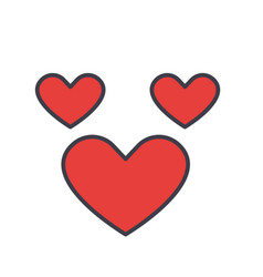 heart love concept line icon editable vector image