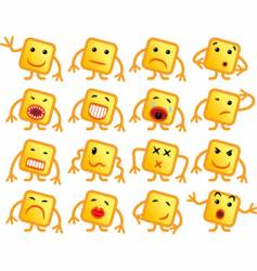 Square smiles vector